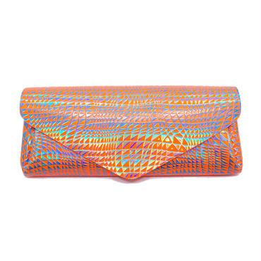 レザーロングウォレット ビーム ネオンオレンジ【Long Wallet BEAM Neon Orange】
