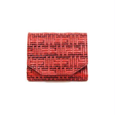 メッシュウォレットミニ レッド【Mesh Wallet Mini Red】