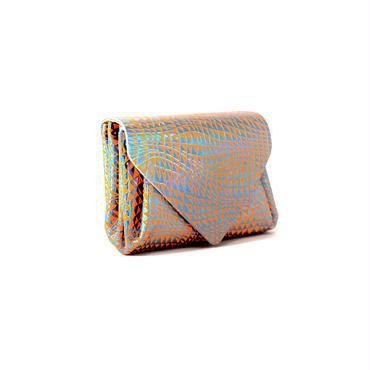 レザーミニウォレット ビーム ネオンオレンジ【Mini Wallet BEAM Neon Orange】