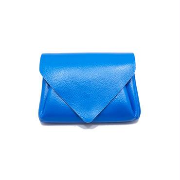 ビビッドレザー ミニウォレット ブルー 【Vivid Mini Wallet Blue】