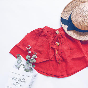 kids★linen  flare middle skirt