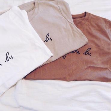 【ladies】手描き風 simple print pullover