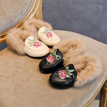 【予約】kids★刺繍fur babouche