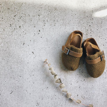 kids★knit×leather  babouche【再入荷無し】