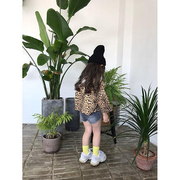 kids★leopard foodie tops【再入荷無し】