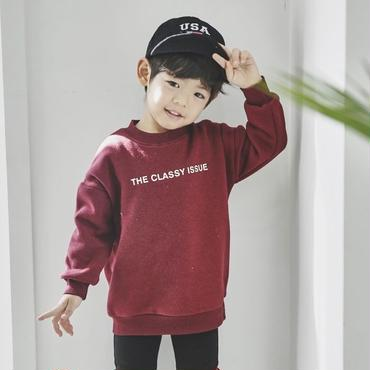 kids★simple print pullover