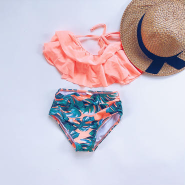 【予約商品】kids★botanical frill swim wear