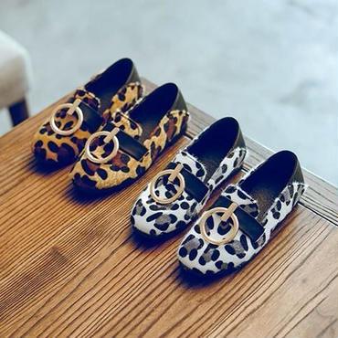 【予約】kids★leopard  moccasin shoes