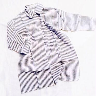 kids★long stripe shirt