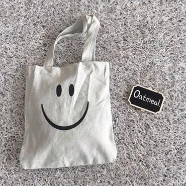 smile cotton tote bag