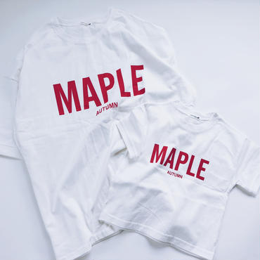 【ladies】MAPLE Red print T shirt