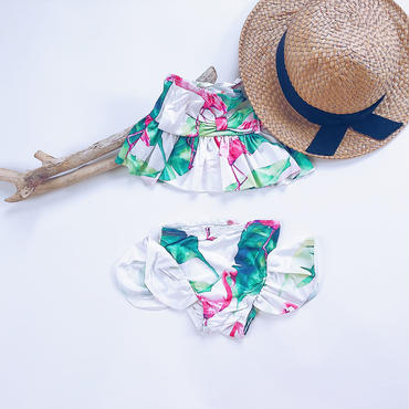kids★flamingo peprum swim wear