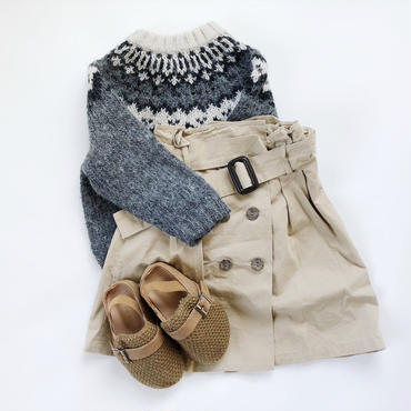 kids★trench skirt