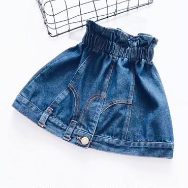kids★high-waist denim skirt