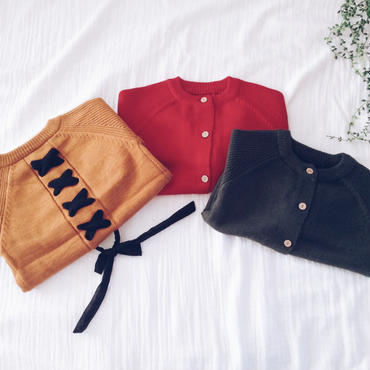 kids★lace-up cardigan