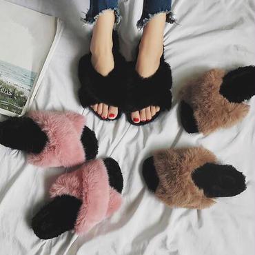 【予約】ladies fur sandal