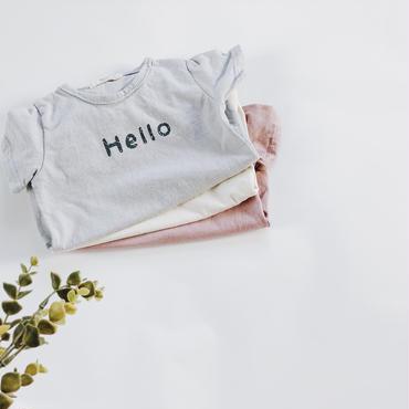 "Kids ★""hello""""goodbye""T shirt"