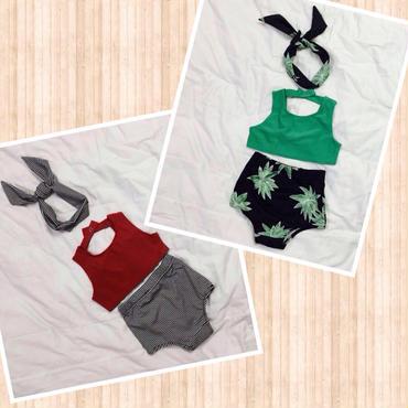 kids★high-waist swim wear
