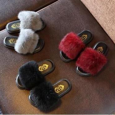 【予約】kids★fur sandal
