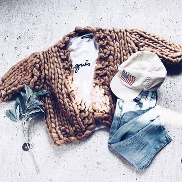 kids★volume knit cardigan