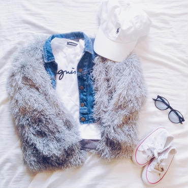 kids★shaggy fur coat