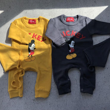 baby★mickey long sleeve rompers