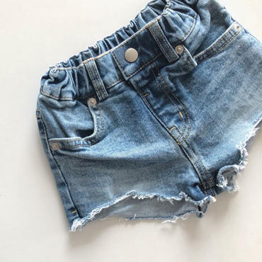 kids★数量限定 damage vintage denim short pants