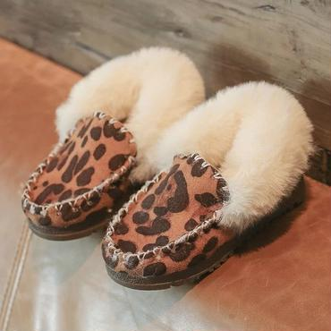 【予約商品】kids★leopard far moccasin