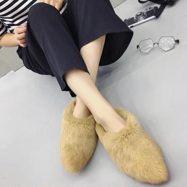 【予約】ladies fur babouche