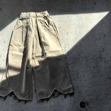kids★pompom damage tuck pants