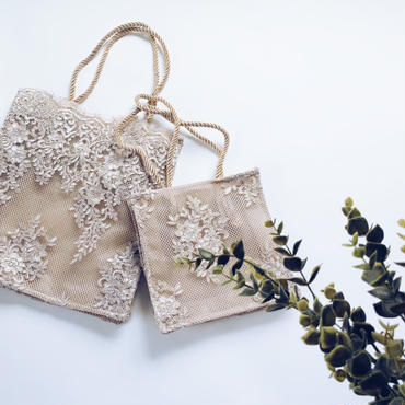 lace tote bag(S size)