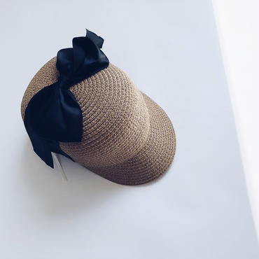 kids★ribbon straw cap