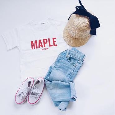 kids★MAPLE Red print T shirt