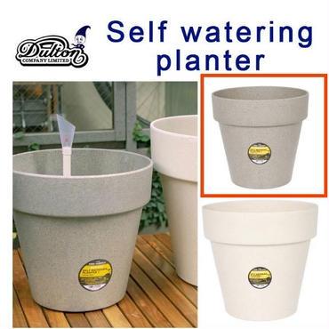 自動給水 植木鉢 SELF WATERING PLANTER ダルトン DULTON 2018年新作 自然由来のポット Sサイズ Straw gray