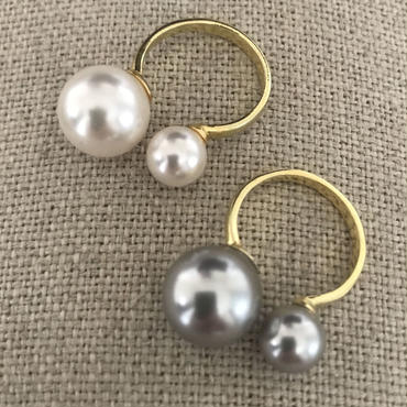 Lady Pearl Double Pearl リング