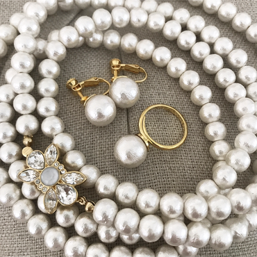 Lady Pearl Set Cotton Pearl