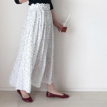 dot pleats-skirt