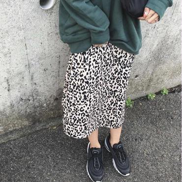 leopard flare skirt