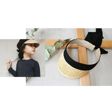 straw ribbon sunvisor