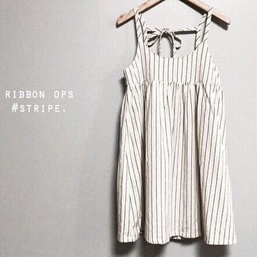 stripe one-piece/100
