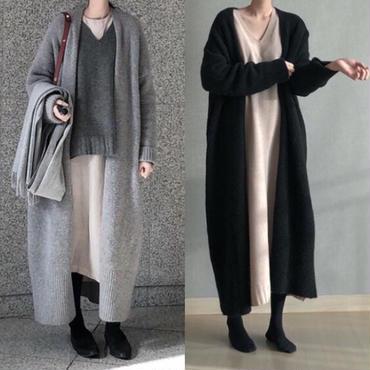 ladies//long knit cardigan