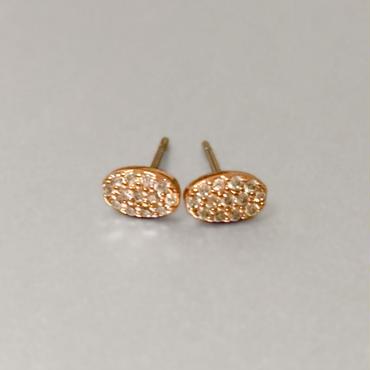 Rose Gold Mini Oval Earrings / Louche