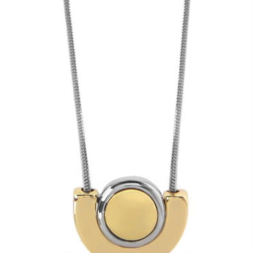 Semi Circle Mixed Metal Necklace / Louche