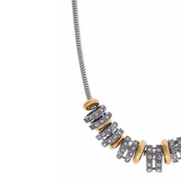 Multi Plated Charm Necklace / Louche