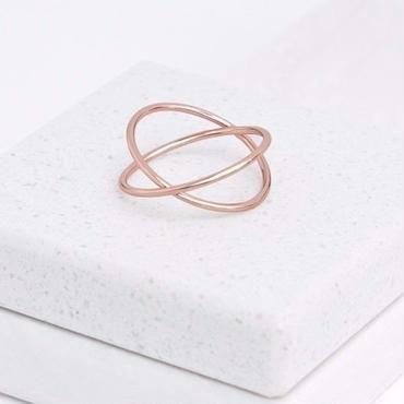 Rose Gold Cross Ring / Louche