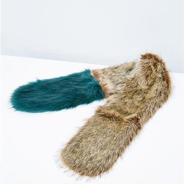 Curbey Dip Dye Faux Fur Stole / Louche