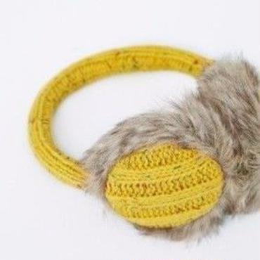 Brickle Cable Fleck Ear Muffs Mustard / Louche