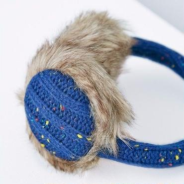 Brickle Cable Fleck Ear Muffs Blue / Louche