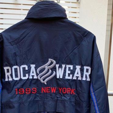ROCA WEAR/ロカウエアー ビッグロゴナイロンジャケット 90年代 (USED)