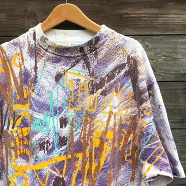 90年前後 総柄Tシャツ Made In USA (USED)